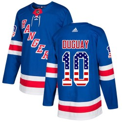Ron Duguay New York Rangers Youth Adidas Authentic Royal Blue USA Flag Fashion Jersey
