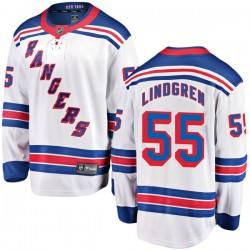Ryan Lindgren New York Rangers Youth Fanatics Branded White Breakaway Away Jersey