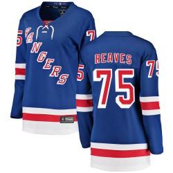 Ryan Reaves New York Rangers Women's Fanatics Branded Blue Breakaway Home Jersey