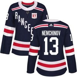 Sergei Nemchinov New York Rangers Women's Adidas Authentic Navy Blue 2018 Winter Classic Jersey
