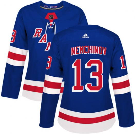 Sergei Nemchinov New York Rangers Women's Adidas Authentic Royal Blue Home Jersey