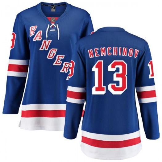 Sergei Nemchinov New York Rangers Women's Fanatics Branded Blue Home Breakaway Jersey