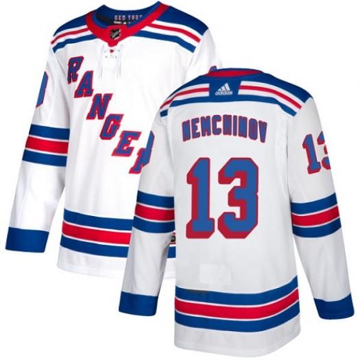 Sergei Nemchinov New York Rangers Youth Adidas Authentic White Away Jersey