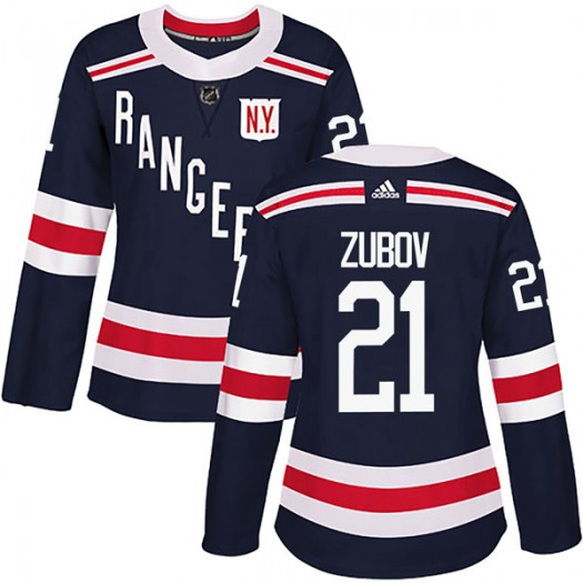 Sergei Zubov New York Rangers Women's Adidas Authentic Navy Blue 2018 Winter Classic Home Jersey
