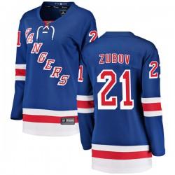 Sergei Zubov New York Rangers Women's Fanatics Branded Blue Breakaway Home Jersey
