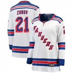Sergei Zubov New York Rangers Women's Fanatics Branded White Breakaway Away Jersey