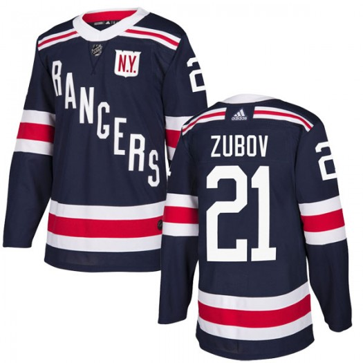 Sergei Zubov New York Rangers Youth Adidas Authentic Navy Blue 2018 Winter Classic Home Jersey
