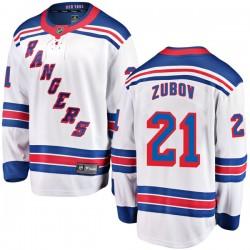 Sergei Zubov New York Rangers Youth Fanatics Branded White Breakaway Away Jersey