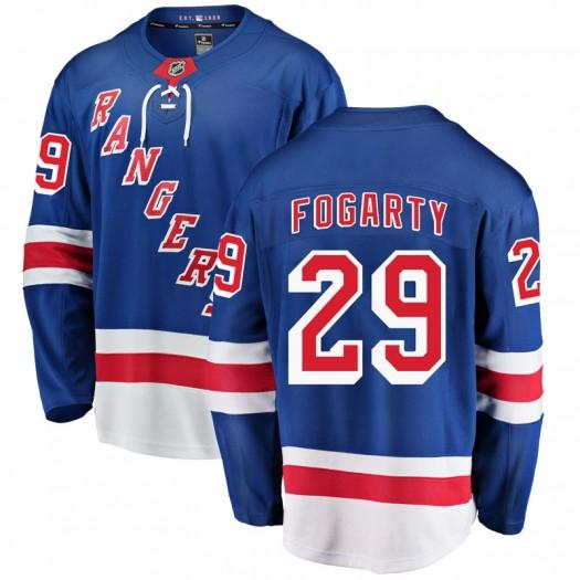 Steven Fogarty New York Rangers Men's Fanatics Branded Blue Breakaway Home Jersey