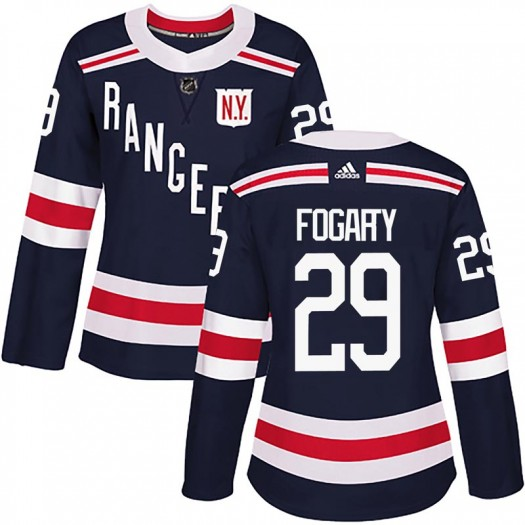Steven Fogarty New York Rangers Women's Adidas Authentic Navy Blue 2018 Winter Classic Home Jersey