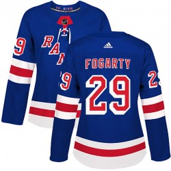 Steven Fogarty New York Rangers Women's Adidas Authentic Royal Blue Home Jersey