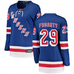 Steven Fogarty New York Rangers Women's Fanatics Branded Blue Breakaway Home Jersey