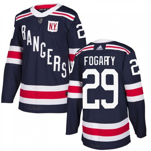 Steven Fogarty New York Rangers Youth Adidas Authentic Navy Blue 2018 Winter Classic Home Jersey