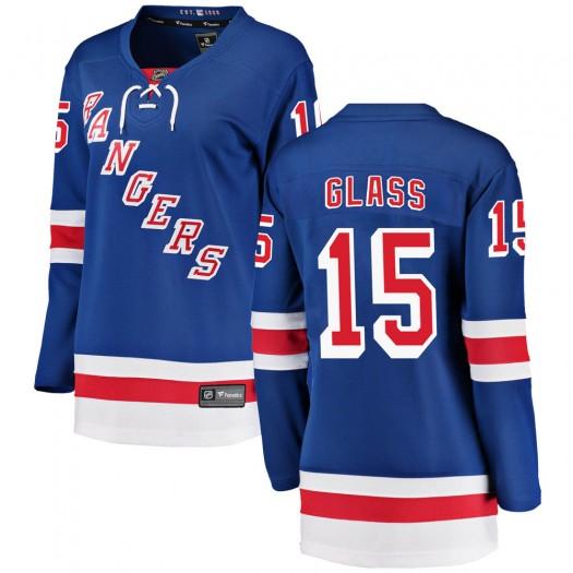 Tanner Glass New York Rangers Women's Fanatics Branded Blue Breakaway Home Jersey