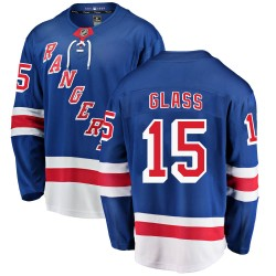 Tanner Glass New York Rangers Youth Fanatics Branded Blue Breakaway Home Jersey