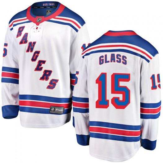 Tanner Glass New York Rangers Youth Fanatics Branded White Breakaway Away Jersey
