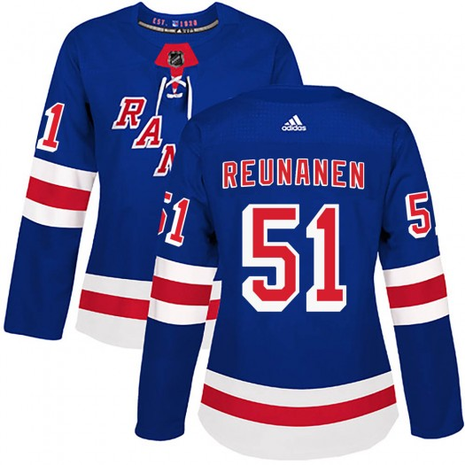 Tarmo Reunanen New York Rangers Women's Adidas Authentic Royal Blue Home Jersey