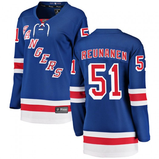 Tarmo Reunanen New York Rangers Women's Fanatics Branded Blue Breakaway Home Jersey
