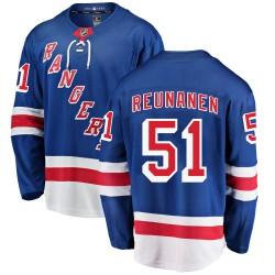 Tarmo Reunanen New York Rangers Youth Fanatics Branded Blue Breakaway Home Jersey