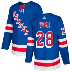 Tie Domi New York Rangers Men's Adidas Authentic Royal Jersey