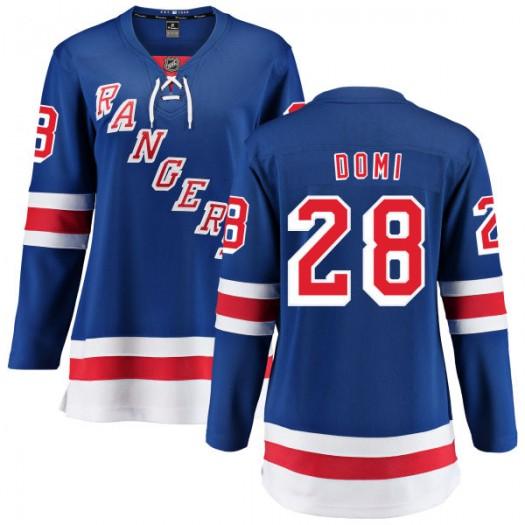 Tie Domi New York Rangers Women's Fanatics Branded Blue Home Breakaway Jersey