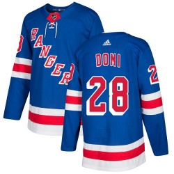 Tie Domi New York Rangers Youth Adidas Authentic Royal Blue Home Jersey