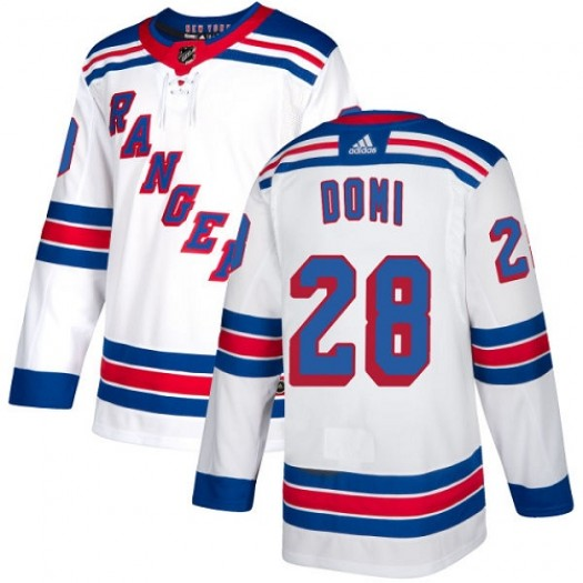 Tie Domi New York Rangers Youth Adidas Authentic White Away Jersey
