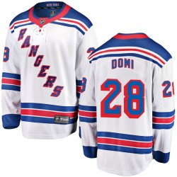 Tie Domi New York Rangers Youth Fanatics Branded White Breakaway Away Jersey