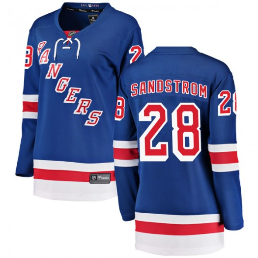 Tomas Sandstrom New York Rangers Women's Fanatics Branded Blue Breakaway Home Jersey