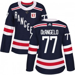 Tony DeAngelo New York Rangers Women's Adidas Authentic Navy Blue 2018 Winter Classic Home Jersey