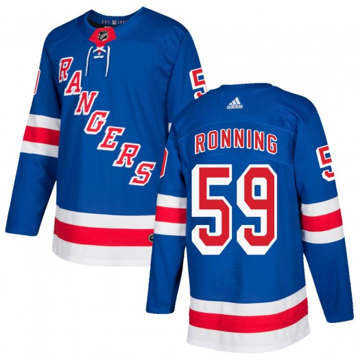 Ty Ronning New York Rangers Youth Adidas Authentic Royal Blue Home Jersey