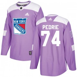 Vince Pedrie New York Rangers Youth Adidas Authentic Purple Fights Cancer Practice Jersey