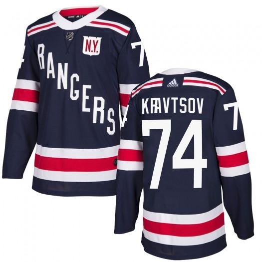 Vitali Kravtsov New York Rangers Men's Adidas Authentic Navy Blue ized 2018 Winter Classic Home Jersey