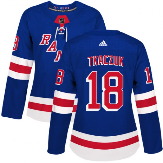 Walt Tkaczuk New York Rangers Women's Adidas Authentic Royal Blue Home Jersey