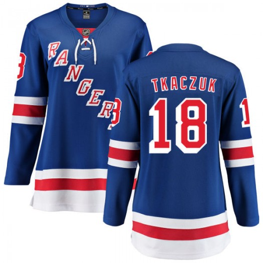 Walt Tkaczuk New York Rangers Women's Fanatics Branded Blue Home Breakaway Jersey