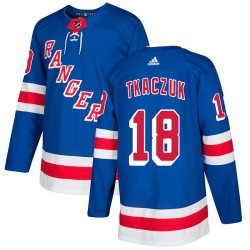 Walt Tkaczuk New York Rangers Youth Adidas Authentic Royal Blue Home Jersey