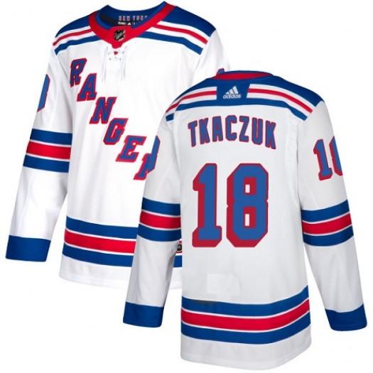 Walt Tkaczuk New York Rangers Youth Adidas Authentic White Away Jersey