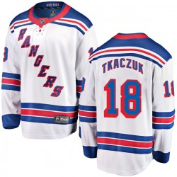 Walt Tkaczuk New York Rangers Youth Fanatics Branded White Breakaway Away Jersey