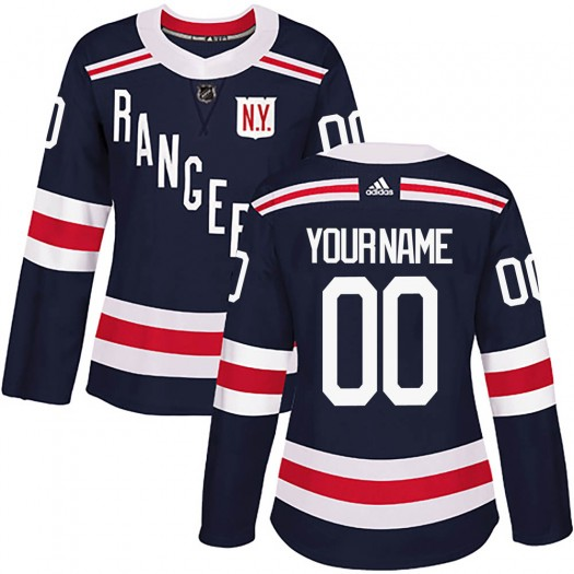 Women's Adidas New York Rangers Customized Authentic Navy Blue 2018 Winter Classic Home Jersey