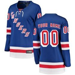 Women's Fanatics Branded New York Rangers Customized Breakaway Blue Home Jersey
