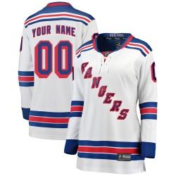 Women's Fanatics Branded New York Rangers Customized Breakaway White Away Jersey