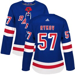 Yegor Rykov New York Rangers Women's Adidas Authentic Royal Blue Home Jersey