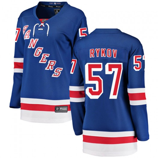Yegor Rykov New York Rangers Women's Fanatics Branded Blue Breakaway Home Jersey