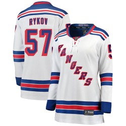 Yegor Rykov New York Rangers Women's Fanatics Branded White Breakaway Away Jersey