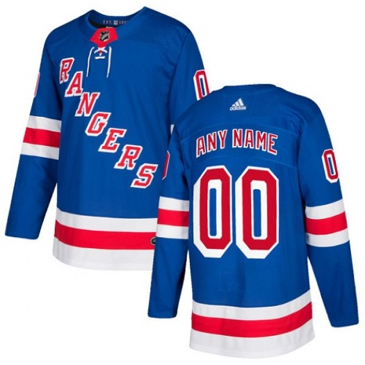 Youth Adidas New York Rangers Customized Authentic Royal Blue Home Jersey