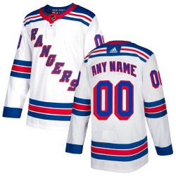 Youth Adidas New York Rangers Customized Authentic White Away Jersey