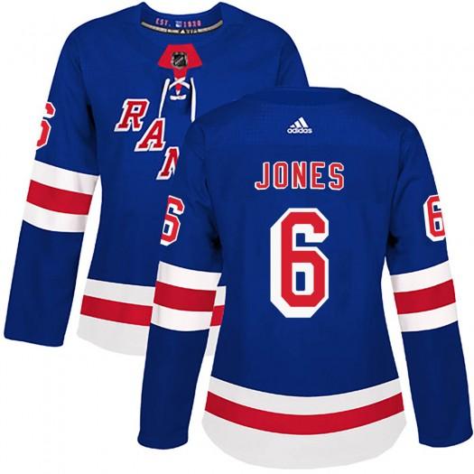 Zac Jones New York Rangers Women's Adidas Authentic Royal Blue Home Jersey