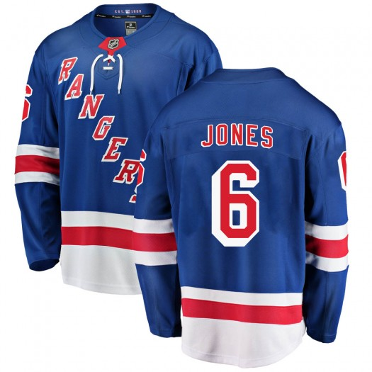 Zac Jones New York Rangers Youth Fanatics Branded Blue Breakaway Home Jersey