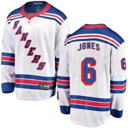 Zac Jones New York Rangers Youth Fanatics Branded White Breakaway Away Jersey