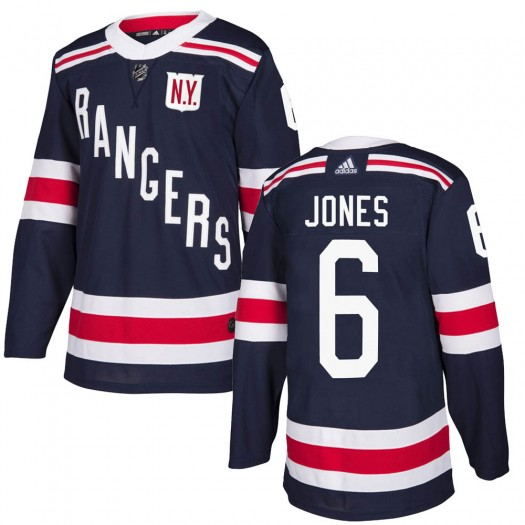 Zachary Jones New York Rangers Men's Adidas Authentic Navy Blue 2018 Winter Classic Home Jersey